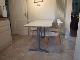 Ikea Billsta Kitchen Table and 3 Ikea Chairs