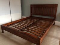 King Size bed frame. Solid Wood.