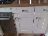 Kitchen cabinets cream gloss,homebase