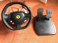 XBox 360- Thrustmaster - Ferrari 458 Italia Steering Wheel and Pedals (including box)