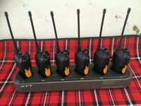 6 WALKIE TALKIES LIKE NEW WITH CHARGER/BOXES TC-610/610P