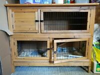 2 Level Guinea Pig or Rabbit Hutch