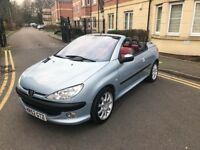PEUGEOT 206CC,12 MONTHS MOT,LOW MILEAGE,SERVICE HISTORY,TIMING BELT CHANGED.