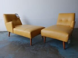 BRAND NEW STILL WITH TAGS FABB SOFAS HEPBURN CHAISE LONGUE LEATHER SET DELIVERY AVAILABLE