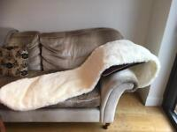 Beautiful ivory faux fur shawl