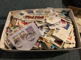 Shoe Box of Stamps - Worldwide - Unsorted - Mostly on paper