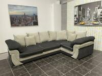 SCS grey corner sofa / couch