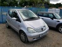 03 PLATE MERCEDES A160. 1.6 PETROL. PX TO CLEAR