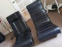 2 x rocker gaming chairs