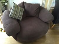 Cuddler chair - chocolate brown - excellent condition