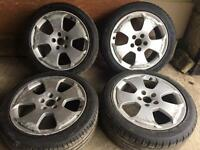 "AUDI A3 S3 8P 2004-12 GENUINE 17"" INCH ALLOY WHEELS WITH TYRES LIKE NEW cheap £130"