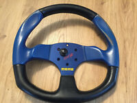 Momo 350 D Steering Wheel sparco Leather Spoke Rare Apache honda civic ek4 ej9 eg
