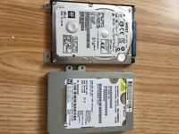 2 SATA hdd 2.5 inch for laptop. 500GB AND 120GB.
