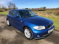2006 BMW 1 Series 118d SE 5dr Full leather 6 speed FSH 1yrs Mot 6mth warranty