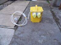 110 volt transformer 3 kva twin outlets