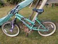 "Girls Apollo bike Green, 20"" wheels, 12"" frame"