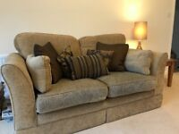 2 seater soft fabric settee