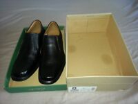 Mens Clarks Harp Tough Black Leather Size 8 UK Shoes - Brand New - Never Worn