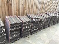 Marley Double Roman Roof Tiles - Approx 1000 red reclaimed