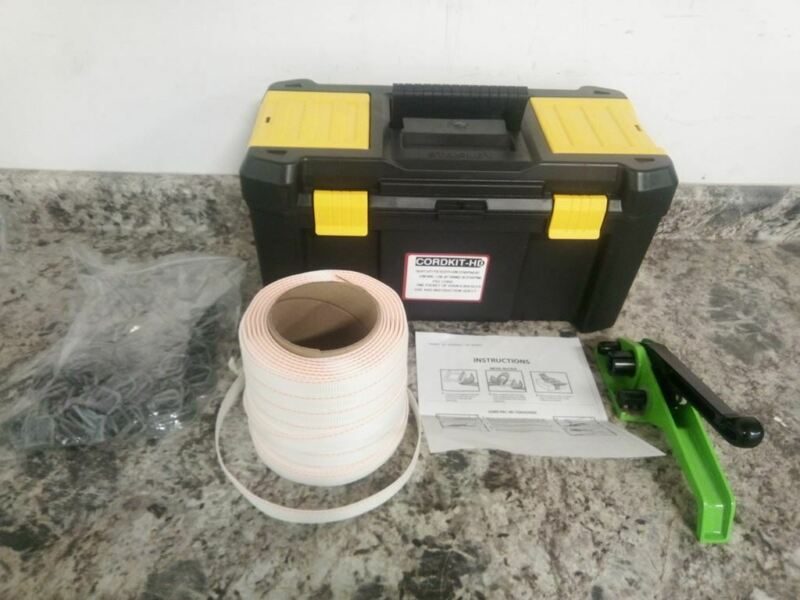 Brand Name 3CUN6 3/4 In W 250 Ft L Plastic Strapping Kit