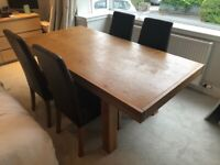 John Lewis Summit Oak dining table and chairs