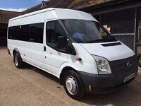 FORD TRANSIT 135T430 LWB minibus 2012/62 17 seater 1 owner