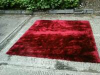 1900's Stepevi of Kings Rd London large burgundy rose red rug