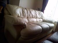 Leather Sofa Suit For Sale £ 50 ONO