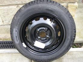 Spare Wheel Brand new Continental tyre 175/65/14 On 4 Stud rim.