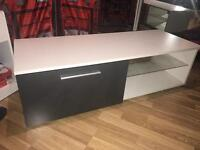 High gloss TV unit with led light