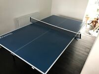 Slazenger Table Tennis Table. Foldable & Wheelable. So good you can eat your dinner off it.