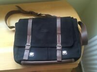 Hess Laptop/Document canvas and leather bag.