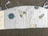 Space dreamer mothercare cot bumper
