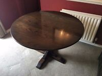 Solid Oak Table (extends) with 4 chairs (Jaycee)