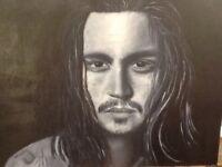 Oil on Canvas 'Johnny' professionally framed 55cm x45cm