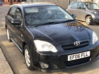 2006 TOYOTA COROLLA AUTOMATIC BLACK 5DOORHATCH BACK WITH FULL HISTROY AND MOT