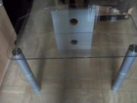 Glass 3tier TV stand.