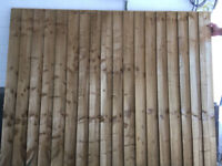 Fence Panel 6ft x 5ft Featherd Edge
