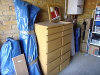 Ikea Malm 6 drawer chest with mirror