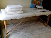 PROFESSIONAL MASSAGE TABLE + extras( towels and books)