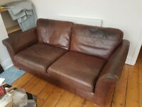 Genuine Brown Leather 2 + 3 sofa