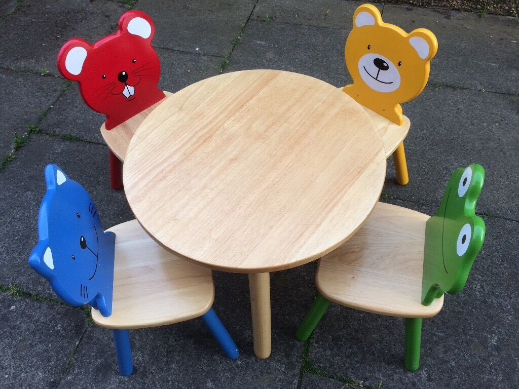 Pintoy/ John Crane Child\'s Table and 4 Chairs | in Falkirk | Gumtree