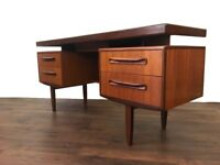 Retro Teak G-Plan Fresco Desk Dresser Vintage Mid Century Modern Gplan G Plan Office Sideboard
