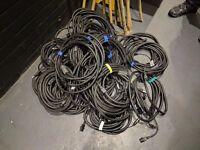 Various Combi XLR/Power Cable Lead x23 lengths!
