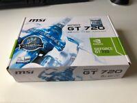 MSI GEFORCE GT 720 *2GB GDDR5* *NEW*