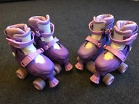 Roller Skates x2 pairs Adjustable size 10/13