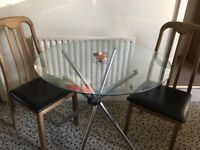 lovely small dining table with two chairs for couples or students!