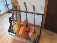 Multi guitar stand 7 way