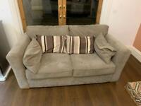 2 seater brown sofa- new and barely used