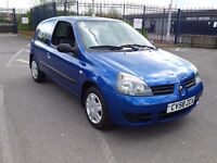 2008 RENAULT CLIO 1.2 8v CAMPUS ONLY 48671 m IDEAL FIRST CAR LOW INSURANCE GROUP PART EX WELCOME